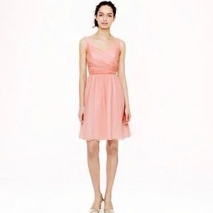 NWT J.Crew Peach Silk Chiffon Heidi Event Dress